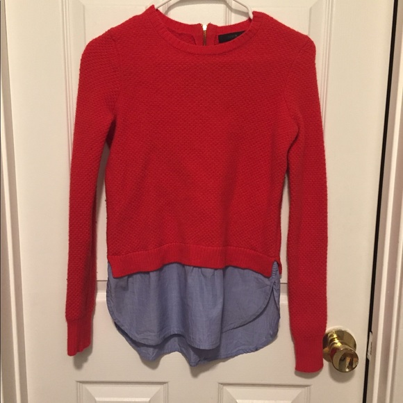 J. Crew Sweaters - J Crew red sweater